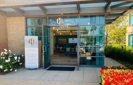 Front door of Hera Hub