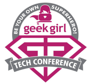 geek girl logo