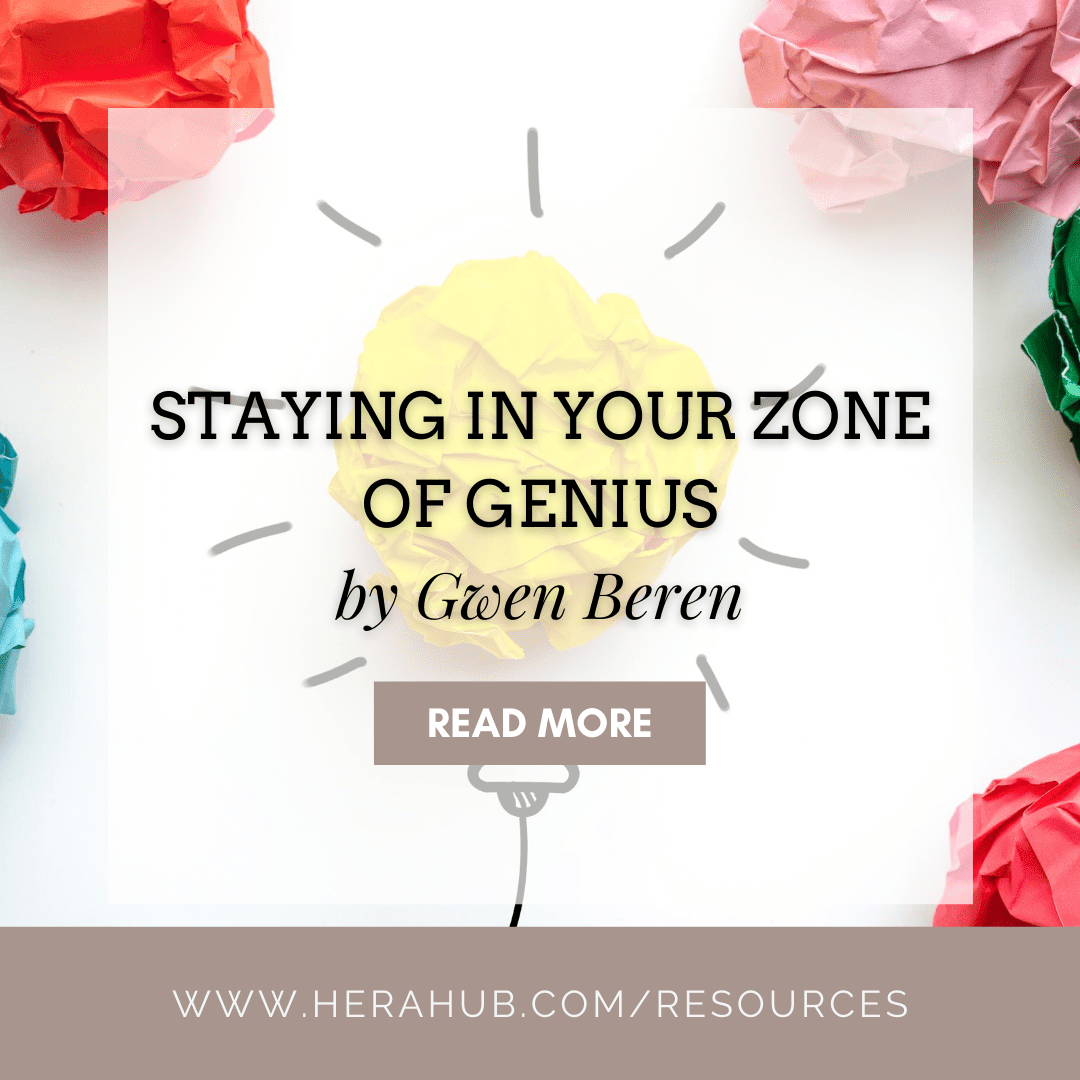 Staying in Your Zone of Genius